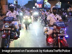 In Low Visibility, Kolkata Cops Don Uniforms With Blinking LED Lights