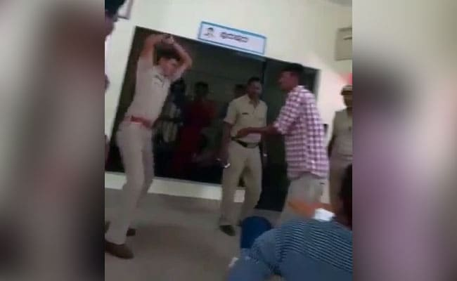 Karnataka Cop Thrashes 2 Men With Leather Strap In Police Station, Video Goes Viral