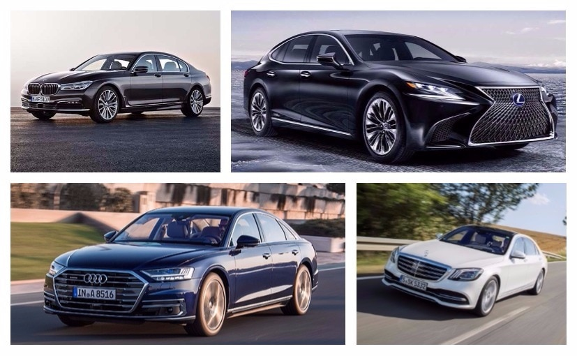Here is our on-paper comparison of the Lexus LS 500h and its German Rivals