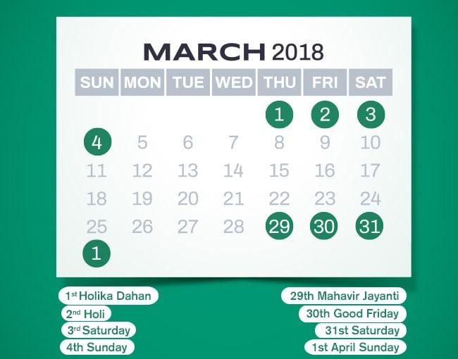 long weekends in india 2018