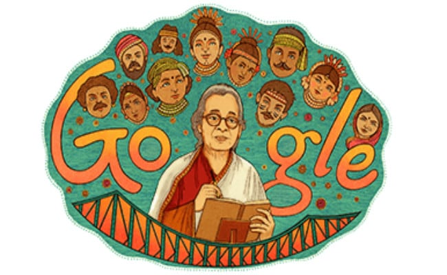 mahasweta devi google doodle, mahasweta devi, Google Doodle, mahasweta devi books free download, mahasweta devi books, mahasweta devi books list