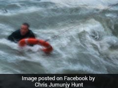 Man, Dog Swallowed By Violent Waves. Pictures Reveal Dramatic Rescue