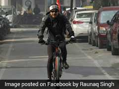 Man To Cycle From Delhi To Manipur To Raise Awareness On Pollution