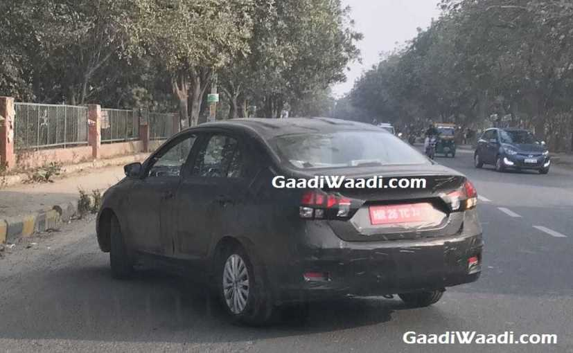 The Maruti Suzuki Ciaz facelift was seen with new alloys and a few updated features