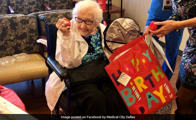 Hospital Surprises 99-Year-Old Patient With Birthday Party