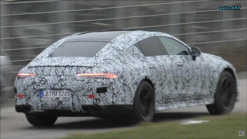 mercedes amg gt sedan spied