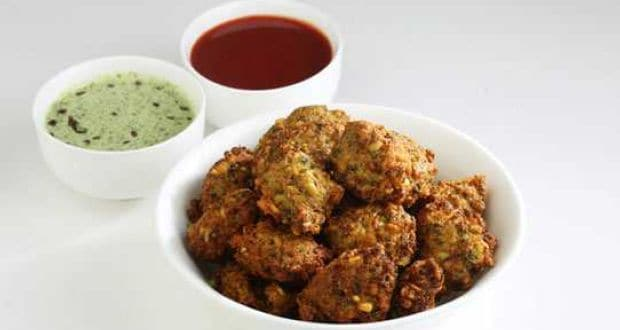 methi and kismish pakora