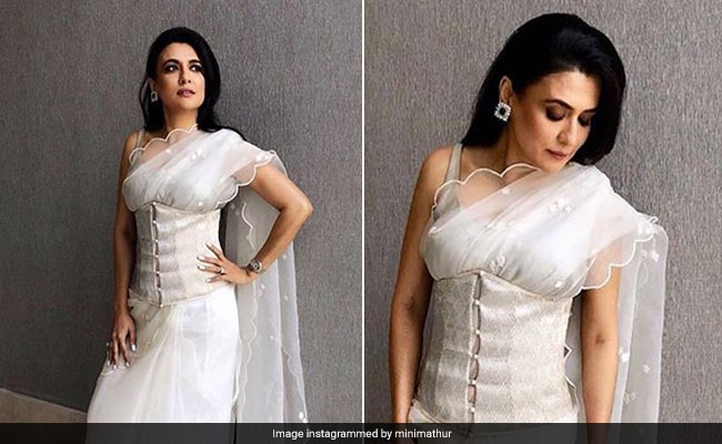 The White <i>Saree</i> From Sridevi's Chandni Goes Modern - Seen On Mini Mathur