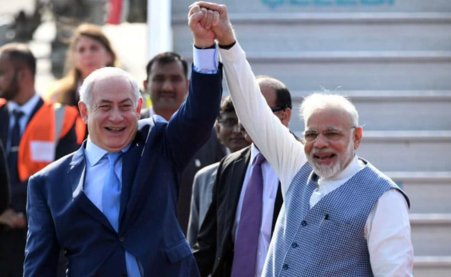 Image result for benjamin netanyahu india visit