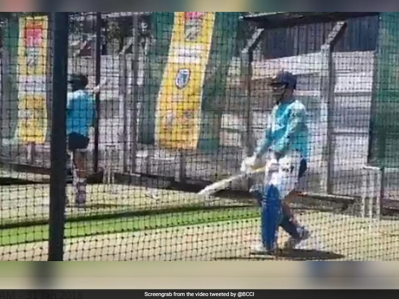 India vs South Africa: MS Dhoni Sweats It Out At The Nets Ahead Of 1st ODI