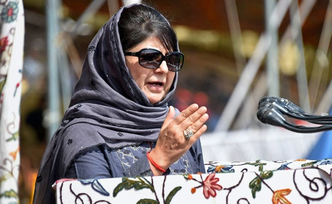 Mehbooba Mufti Warns 'Catastrophe' If J&K Special Status 'Fiddled With'