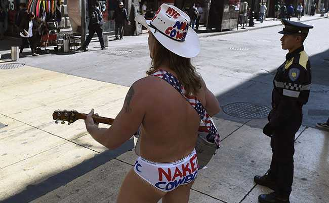 This Naked Cowboy Is Singing Trump's Praises In Mexico. He Has A Reason