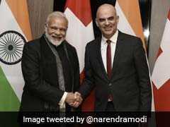 पीएम नरेंद्र मोदी ने दावोस में स्विट्जरलैंड के राष्ट्रपति एलेन बर्सेट से की मुलाकात