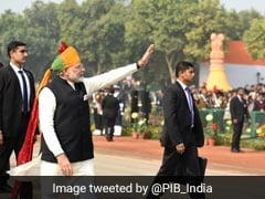 After Republic Day Parade, Prime Minister Narendra Modi Walks Down Rajpath To Greet People