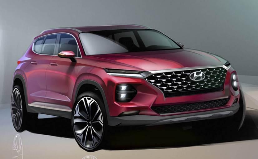 The upcoming model will be the fourth-generation Hyundai Santa Fe