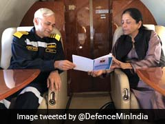 Nirmala Sitharaman At Indian Naval Base In Goa For Two-Day Event