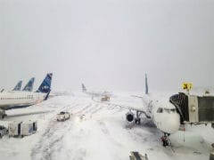 New York Airport Terminal Flooded As Brutal Cold Grips US East Coast