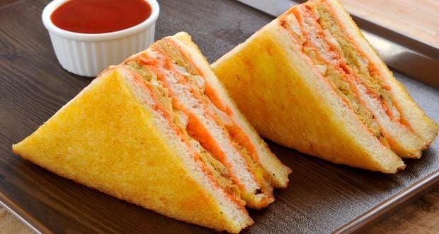 pea and potato sandwich
