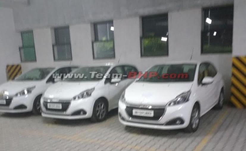 Three units of the Peugeot 208 hatchback were spotted in India without camouflage