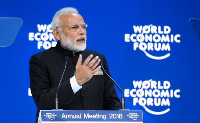 Prime Minister Modi Scores An Ace In Davos On Climate Change