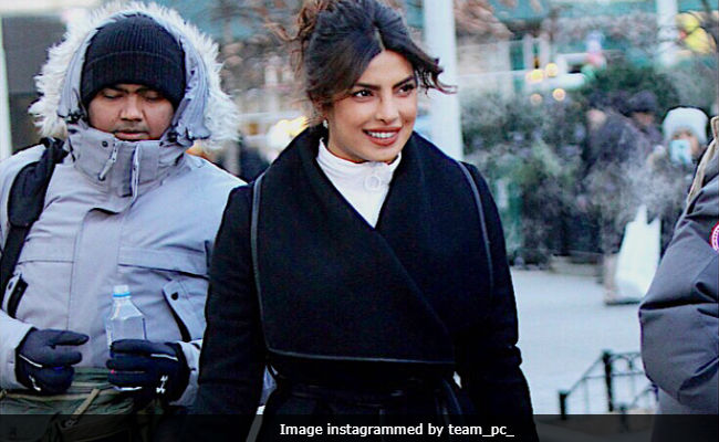 Priyanka Chopra Shrugs Off Winter Chills In Style For Quantico. See Pics