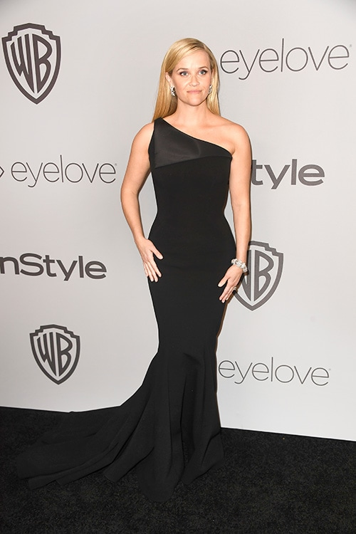 bdaae274f08 reese witherspoon. Reese Witherspoon in a Zac Posen gown at the Golden  Globes 2018 ...