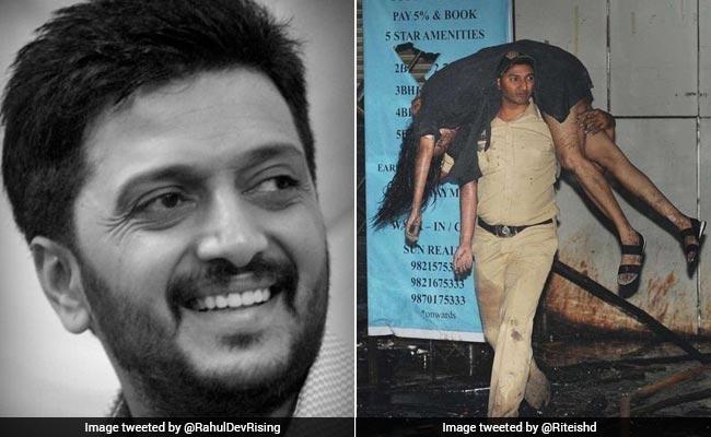 आग लगने वाली घटना में पुलिस ने 8 लोगों की बचाई जान, रितेश देशमुख ने ट्वीट कर किया सलाम
