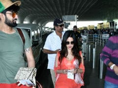 Riya Sen And Husband Shivam Tewari Spotted At Mumbai Airport