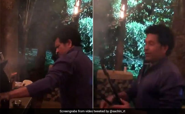 Another Feather To His Hat? Sachin Tendulkar Cooks Delicious BBQ delights For His Friends At New Year's Eve Party
