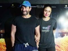 Saif Ali Khan Screens <i>Kaalakaandi</i> For Kareena Kapoor, Soha And Kunal. See Pics