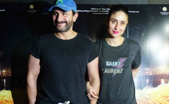 Saif Ali Khan Screens Kaalakaandi For Kareena Kapoor, Soha And Kunal. See Pics