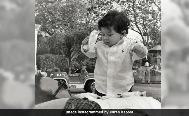 Karan Kapoor Leaves Us With One Last Pic Of Taimur And Saif Ali Khan
