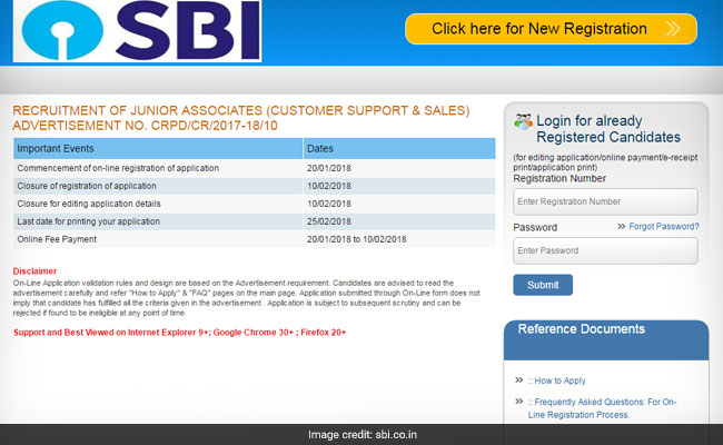 SBI Junior Associates Recruitment Begins; Know Registration Process