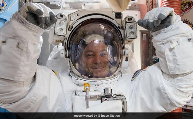 NASA Astronauts Conduct First Spacewalk Of 2018