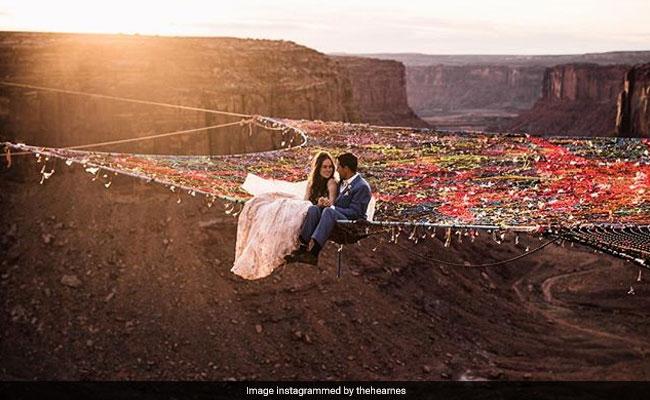ये है अब तक की सबसे खतरनाक और खूबसूरत शादी, वीडियो देखकर खड़े हो जाएंगे रोंगटे