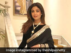 How Shilpa Shetty Wears A Saree With A Smile Even When She's Freezing