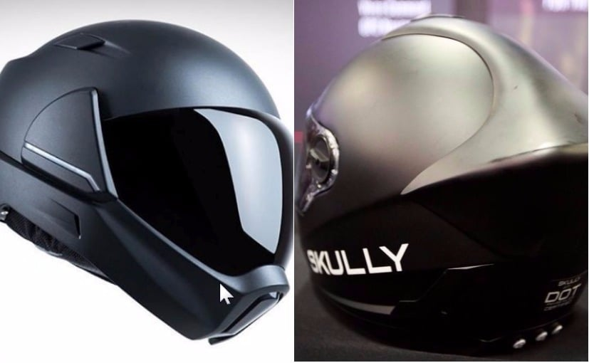 Two new smart helmets were unveiled at the CES 2018 show in Las Vegas