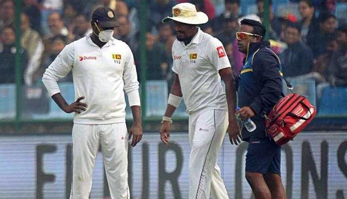 sri lankan player vomits on the field