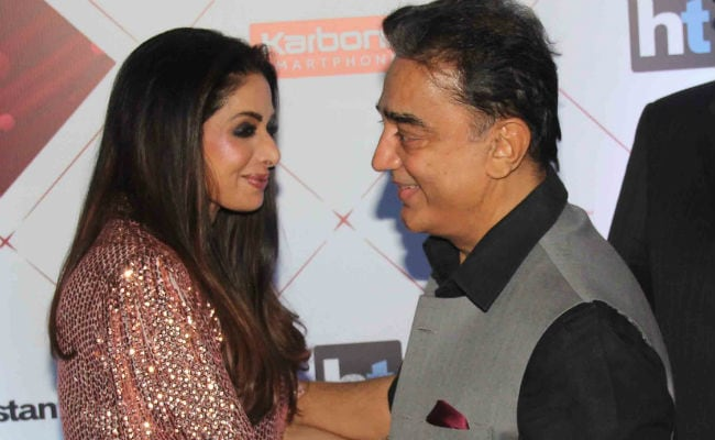 A Sadma Reunion: Sridevi And Kamal Haasan Share A Hug On Awards Red Carpet