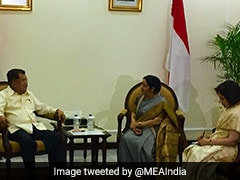 Sushma Swaraj Discusses Ways To Strengthen Ties With Indonesian Leaders