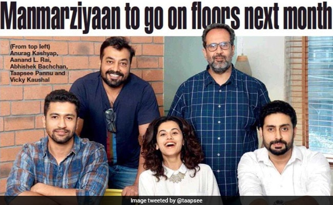 Anurag Kashyap's Manmarziyaan Starring Abhishek Bachchan And Taapsee Pannu To Go On Floors Next Month