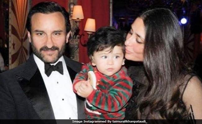 Viral: Taimur Gets A Kiss From Mom Kareena Kapoor, A Cuddle From Dad Saif Ali Khan