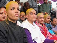 250 People Shave Heads As Protest Demanding Separate Bundelkhand State