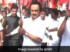 DMK Leads Opposition Protests Against Bus Fare Hike, Blocks Road In Chennai