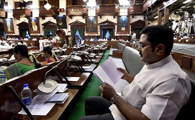 DMK stages walkout as TTV Dhinakaran makes TN Assembly debut