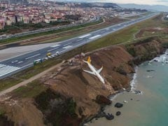 Video Shows A Jetliner Teetering Above The Black Sea After It Slid Off The Runway