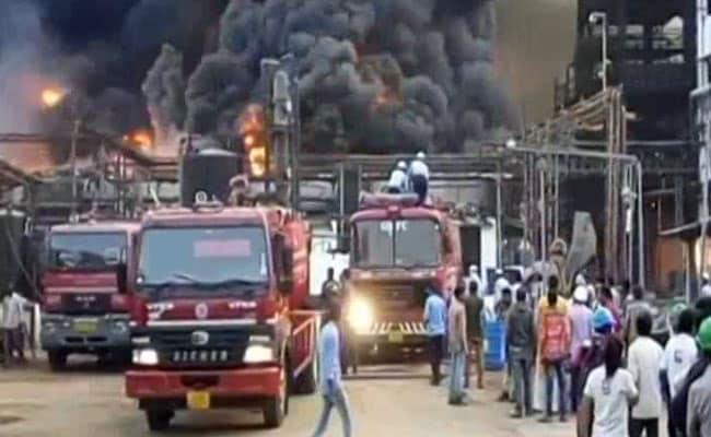 Huge Fire At Chemical Plant Near Vadodara In Gujarat Under Control