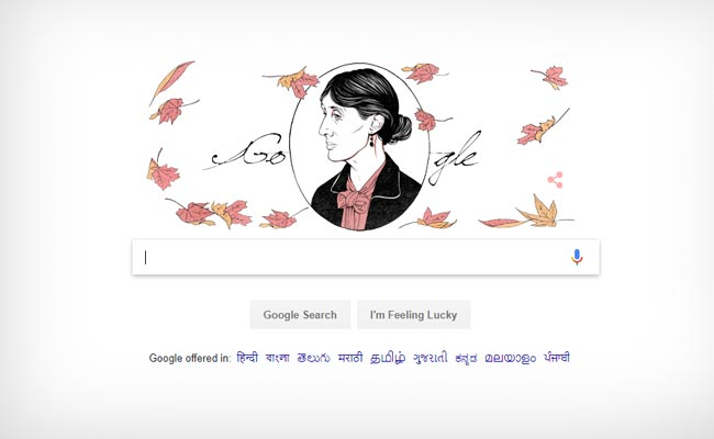 Google's doodle commemorates Virginia Woolf on her 136th birth anniversary
