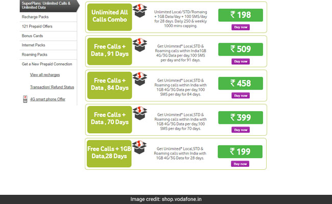vodafone 1gb prepaid plans
