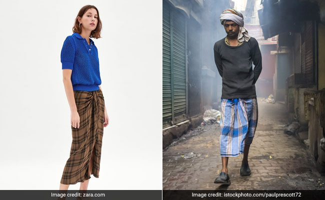 Twitter Can't Wrap Its Head Around Zara Skirt Resembling Lungis